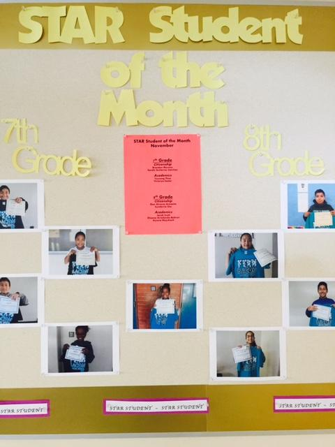 star students of the month are recognized with a certificate