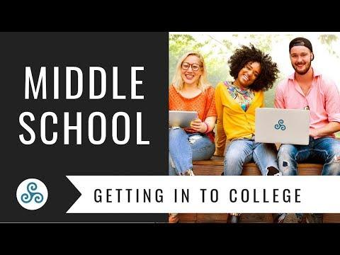 Getting Into College Info for Middle Schoolers