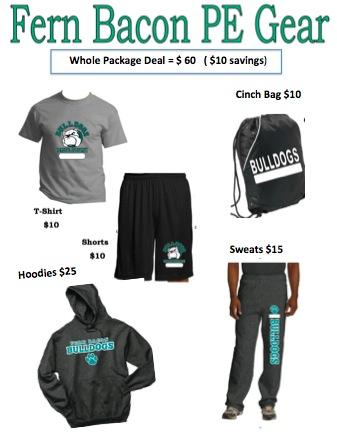 Purchase your PE uniforms now.